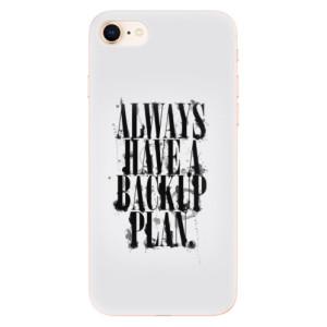 Silikonové odolné pouzdro iSaprio Backup Plan na mobil Apple iPhone 8