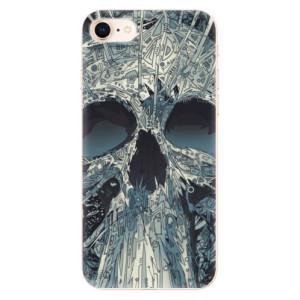 Silikonové odolné pouzdro iSaprio Abstract Skull na mobil Apple iPhone 8