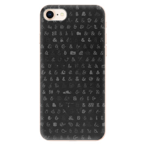 Silikonové odolné pouzdro iSaprio Ampersand 01 na mobil Apple iPhone 8
