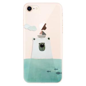 Silikonové odolné pouzdro iSaprio Bear With Boat na mobil Apple iPhone 8