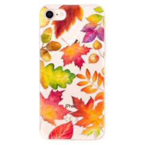 Silikonové odolné pouzdro iSaprio Autumn Leaves 01 na mobil Apple iPhone 8