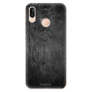 Silikonové odolné pouzdro iSaprio Black Wood 13 na mobil Huawei P20 Lite