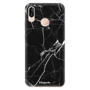 Silikonové odolné pouzdro iSaprio Black Marble 18 na mobil Huawei P20 Lite