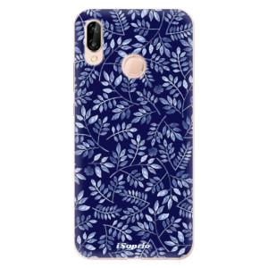 Silikonové odolné pouzdro iSaprio Blue Leaves 05 na mobil Huawei P20 Lite
