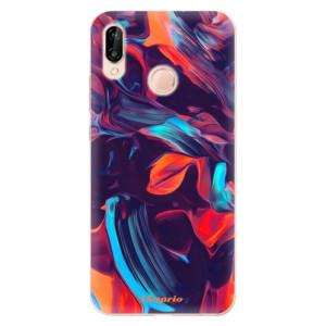 Silikonové odolné pouzdro iSaprio Color Marble 19 na mobil Huawei P20 Lite