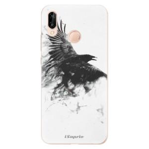 Silikonové odolné pouzdro iSaprio Dark Bird 01 na mobil Huawei P20 Lite