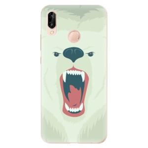Silikonové odolné pouzdro iSaprio Angry Bear na mobil Huawei P20 Lite