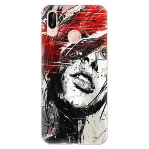 Silikonové odolné pouzdro iSaprio Sketch Face na mobil Huawei P20 Lite - poslední kus za tuto cenu