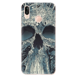 Silikonové odolné pouzdro iSaprio Abstract Skull na mobil Huawei P20 Lite