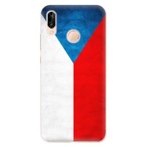 Silikonové odolné pouzdro iSaprio Czech Flag na mobil Huawei P20 Lite
