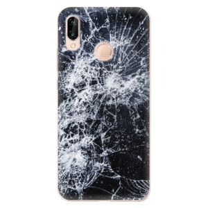 Silikonové odolné pouzdro iSaprio Cracked na mobil Huawei P20 Lite