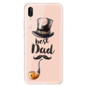 Silikonové odolné pouzdro iSaprio Best Dad na mobil Huawei P20 Lite