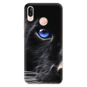 Silikonové odolné pouzdro iSaprio Black Puma na mobil Huawei P20 Lite