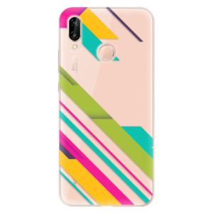 Silikonové odolné pouzdro iSaprio Color Stripes 03 na mobil Huawei P20 Lite