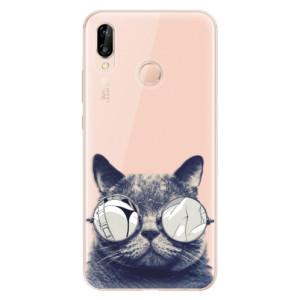 Silikonové odolné pouzdro iSaprio Crazy Cat 01 na mobil Huawei P20 Lite