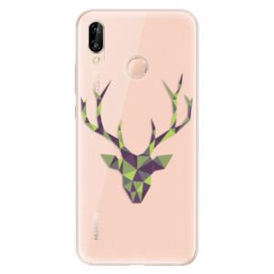 Silikonové odolné pouzdro iSaprio Deer Green na mobil Huawei P20 Lite
