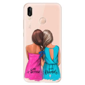 Silikonové odolné pouzdro iSaprio Best Friends na mobil Huawei P20 Lite
