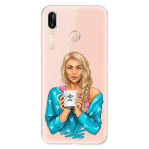 Silikonové odolné pouzdro iSaprio Coffee Now Blond na mobil Huawei P20 Lite