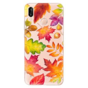 Silikonové odolné pouzdro iSaprio Autumn Leaves 01 na mobil Huawei P20 Lite