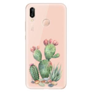Silikonové odolné pouzdro iSaprio Cacti 01 na mobil Huawei P20 Lite