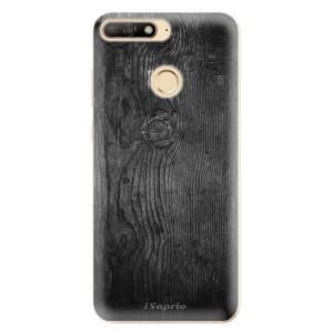 Silikonové odolné pouzdro iSaprio Black Wood 13 na mobil Huawei Y6 Prime 2018