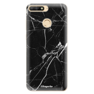 Silikonové odolné pouzdro iSaprio Black Marble 18 na mobil Huawei Y6 Prime 2018
