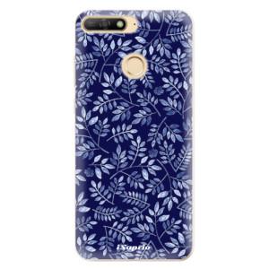Silikonové odolné pouzdro iSaprio Blue Leaves 05 na mobil Huawei Y6 Prime 2018