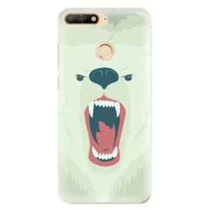 Silikonové odolné pouzdro iSaprio Angry Bear na mobil Huawei Y6 Prime 2018