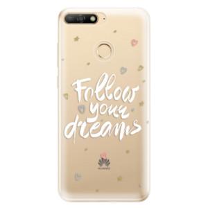 Silikonové odolné pouzdro iSaprio Follow Your Dreams white na mobil Huawei Y6 Prime 2018