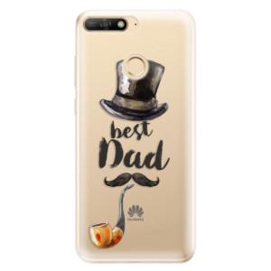 Silikonové odolné pouzdro iSaprio Best Dad na mobil Huawei Y6 Prime 2018