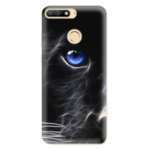 Silikonové odolné pouzdro iSaprio Black Puma na mobil Huawei Y6 Prime 2018