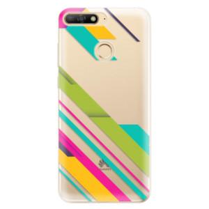 Silikonové odolné pouzdro iSaprio Color Stripes 03 na mobil Huawei Y6 Prime 2018