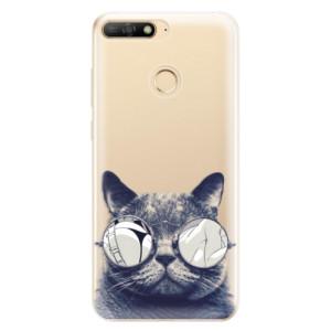 Silikonové odolné pouzdro iSaprio Crazy Cat 01 na mobil Huawei Y6 Prime 2018