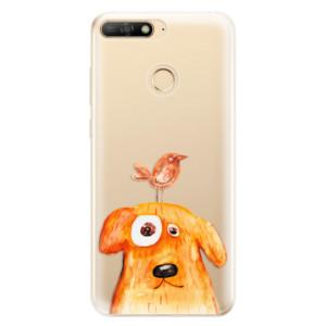 Silikonové odolné pouzdro iSaprio Dog And Bird na mobil Huawei Y6 Prime 2018