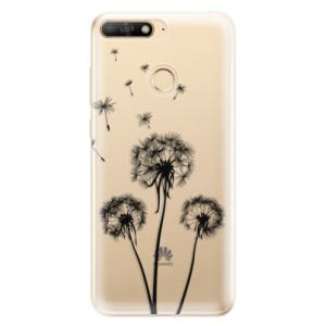 Silikonové odolné pouzdro iSaprio Three Dandelions black na mobil Huawei Y6 Prime 2018
