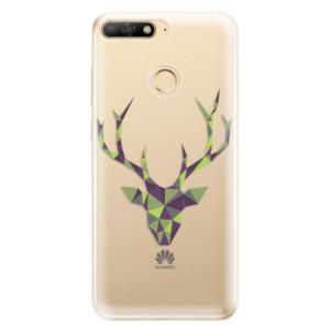 Silikonové odolné pouzdro iSaprio Deer Green na mobil Huawei Y6 Prime 2018