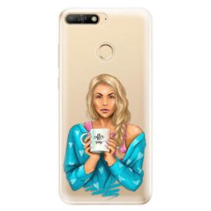 Silikonové odolné pouzdro iSaprio Coffee Now Blond na mobil Huawei Y6 Prime 2018