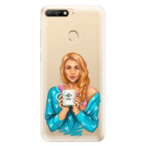 Silikonové odolné pouzdro iSaprio Coffee Now Redhead na mobil Huawei Y6 Prime 2018