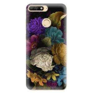 Silikonové odolné pouzdro iSaprio Dark Flowers na mobil Huawei Y6 Prime 2018
