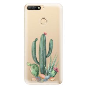 Silikonové odolné pouzdro iSaprio Cacti 02 na mobil Huawei Y6 Prime 2018