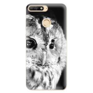 Silikonové odolné pouzdro iSaprio BW Owl na mobil Huawei Y6 Prime 2018