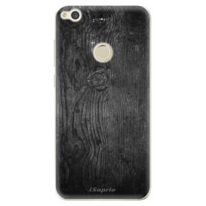 Silikonové odolné pouzdro iSaprio Black Wood 13 na mobil Huawei P9 Lite 2017