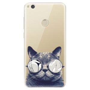 Silikonové odolné pouzdro iSaprio Crazy Cat 01 na mobil Huawei P9 Lite 2017
