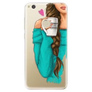 Silikonové odolné pouzdro iSaprio My Coffee and Brunette Girl na mobil Huawei P9 Lite 2017