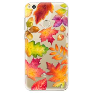 Silikonové odolné pouzdro iSaprio Autumn Leaves 01 na mobil Huawei P9 Lite 2017