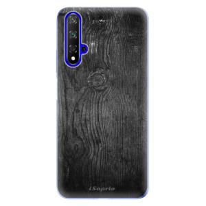 Silikonové odolné pouzdro iSaprio Black Wood 13 na mobil Honor 20