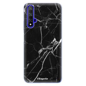 Silikonové odolné pouzdro iSaprio Black Marble 18 na mobil Honor 20