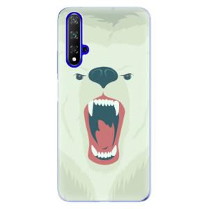 Silikonové odolné pouzdro iSaprio Angry Bear na mobil Honor 20