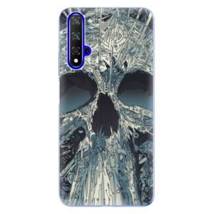 Silikonové odolné pouzdro iSaprio Abstract Skull na mobil Honor 20