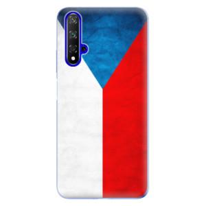Silikonové odolné pouzdro iSaprio Czech Flag na mobil Honor 20